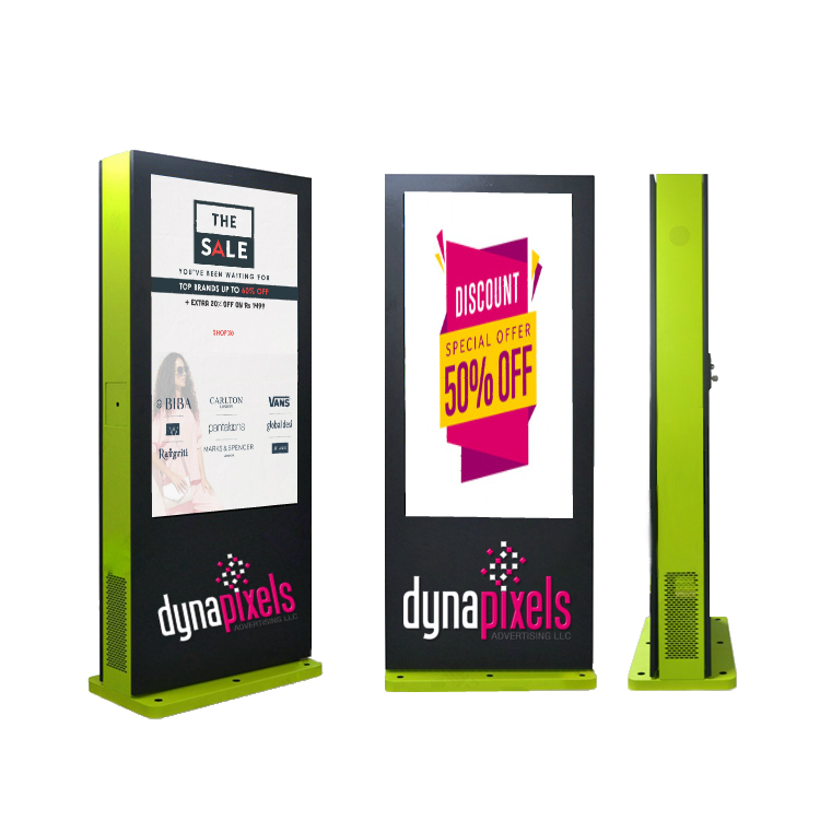 Free standing Digital Signage LCD Display (KIOSK) – Outdoor