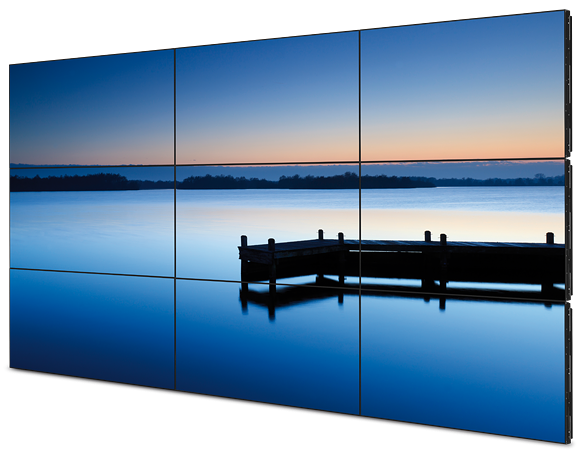 3 x 3 video wall display for digital signage solution